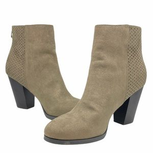 Call It Spring Taupe Suede Booties